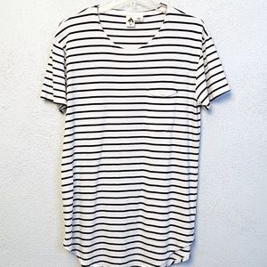 Urban Outfitters Short Sleeve Black Striped Top M